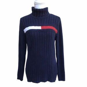 Tommy Hilfiger Red White Navy Turtleneck Sweater